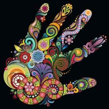 Χέρι από χρώματα