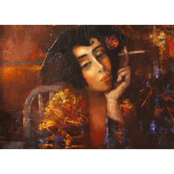 Γυναίκα με τσιγάρο