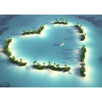 Νησί σε σχήμα καρδιάς
