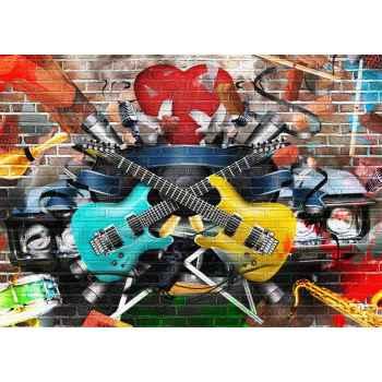 Graffiti με στοιχεία μουσικής