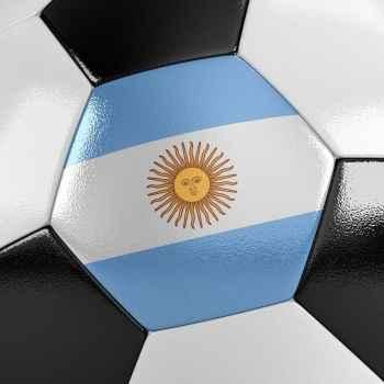 Μπάλα ποδοσφαίρου με την Αργεντίνικη σημαία