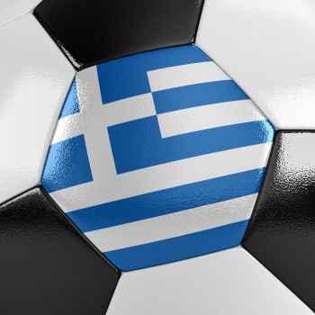 Μπάλα ποδοσφαίρου με την Ελληνική σημαία