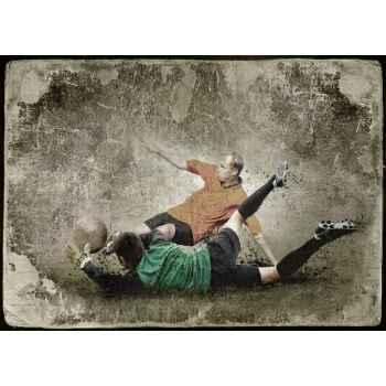 Παίκτες ποδοσφαίρου σε παλιά εικόνα