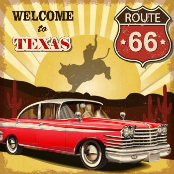 Παλιά αφίσα - Καλωσορίσατε στο Τέξας