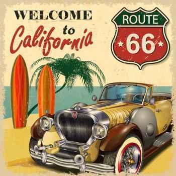 Παλιά αφίσα - Καλωσορίσατε στην Καλιφόρνια