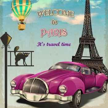 Παλιά αφίσα - Καλωσορίσατε στο Παρίσι