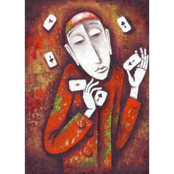 Άντρας παίζει με τις κάρτες