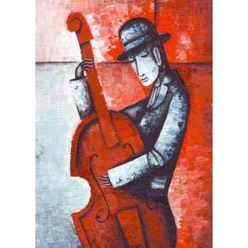 Αφηρημένη εικόνα ενός μουσικού