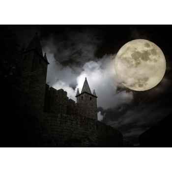 Μεσαιωνικό ευρωπαϊκό κάστρο στην πανσέληνο