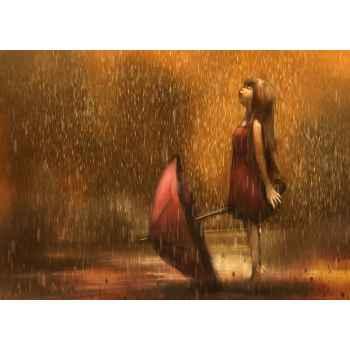 Κορίτσι με ομπρέλα στην βροχή