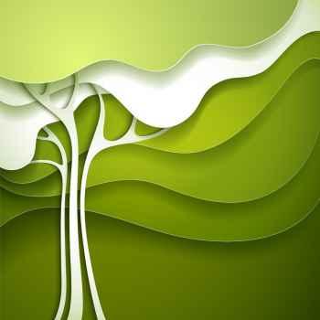 Αφηρημένο καλοκαιρινό δέντρο