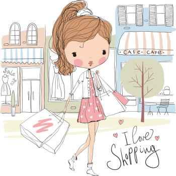 Κορίτσι πάει για ψώνια