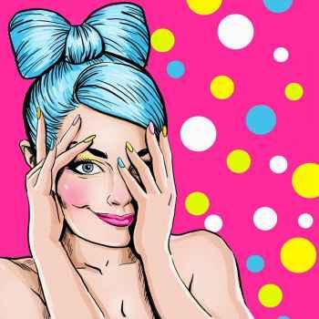 Pop art εικόνα κοριτσιού