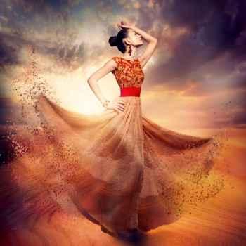 Χορεύτρια με μακρύ φόρεμα