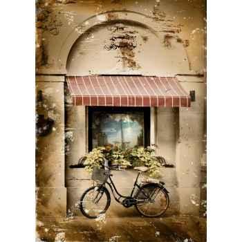 Retro φωτογραφία ποδηλάτου στην πόλη
