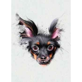 Αφηρημένο πορτρέτο σκύλου