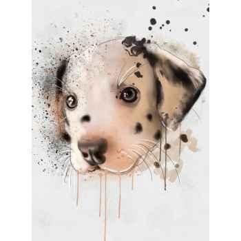 Αφηρημένο πορτρέτο σκύλου Δαλματίας