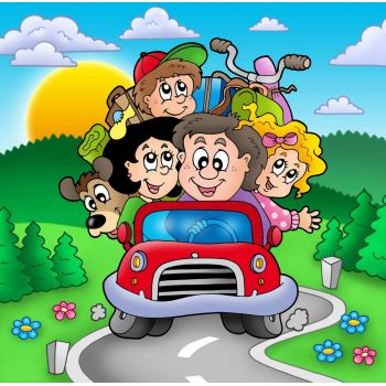 Ευτυχισμένη οικογένεια πάει διακοπές