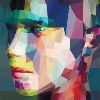 Αφηρημένο πορτρέτο με τρίγωνα
