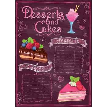 Menu για γλυκά και κέικ