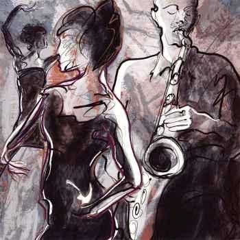 Jazz μπάντα με χορεύτριες