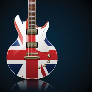 Ηλεκτρική κιθάρα με την Βρετανική σημαία