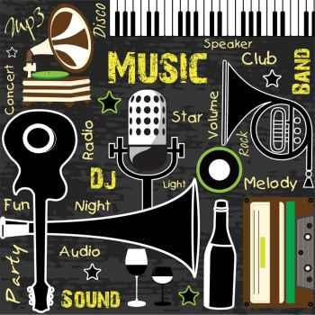 Φόντο με παλιά μουσική