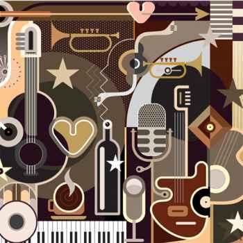 Φόντο με αφηρημένη μουσική