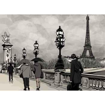 Η θέα του Παρισιού με τον Αλέξανδρο ΙΙΙ και τον πύργο του Άιφελ