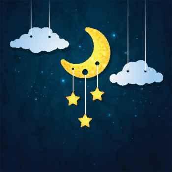 Φεγγάρι, σύννεφα και αστέρια