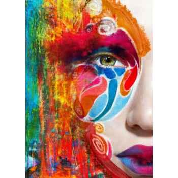 Πορτρέτο γυναικείου προσώπου με χρώμα