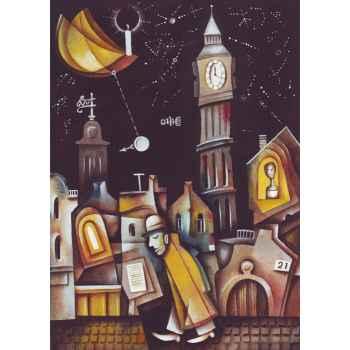 Το αφηρημένο Big Ben την νύχτα
