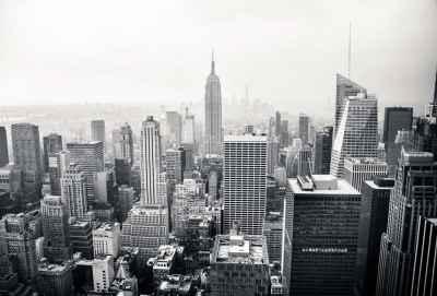 Aσπρόμαυρη φωτογραφία της Νέας Υόρκης