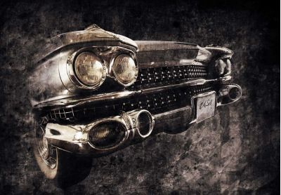 Μπροστινό μέρος παλιού αυτοκινήτου