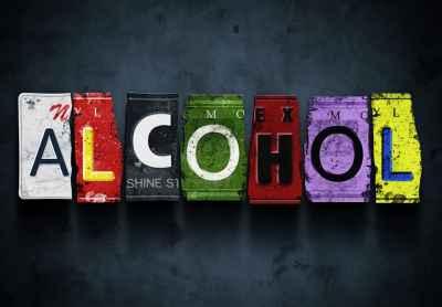 Η λέξη alcohol από πινακίδες αυτοκινήτων