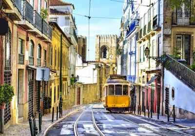 Ρομαντικός δρόμος στην Λισσαβόνα