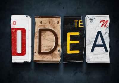 Η λέξη idea από πινακίδες αυτοκινήτων