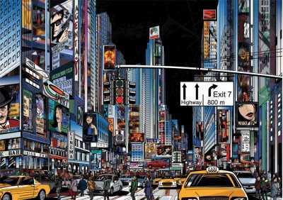 Δρόμος στην Νέα Υόρκη την νύχτα