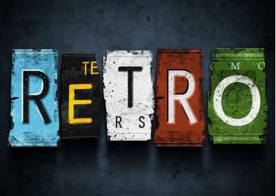 Η λέξη retro από πινακίδες αυτοκινήτων