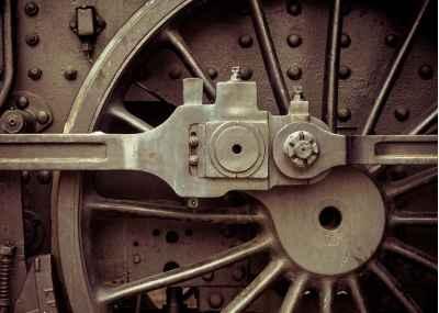 Τροχός παλιού τρένου