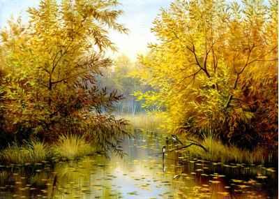 Δέντρα μέσα στην λίμνη