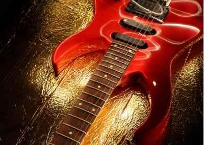Κιθάρα σε ελαφρύ αφηρημένο θέμα