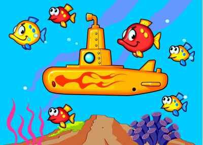 Υποβρύχιο με ψαράκια στο πλάι του