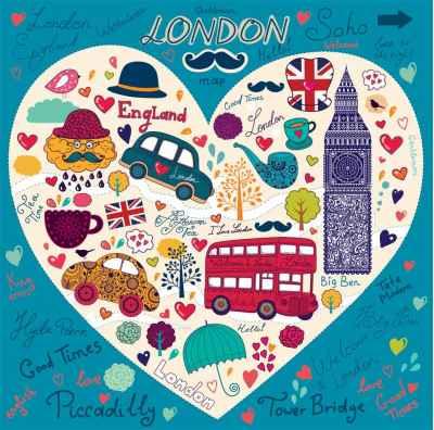 Set από σύμβολα του Λονδίνου