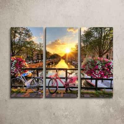 Ανοιξιάτικο πρωινό στο Amsterdam - Τρίπτυχος πίνακας