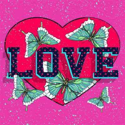 Καρδιά με πεταλούδες