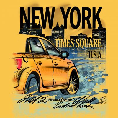 Κίτρινο αμάξι στην Νέα Υόρκη