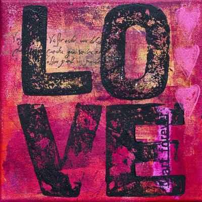 Ζωγραφική με τη λέξη love
