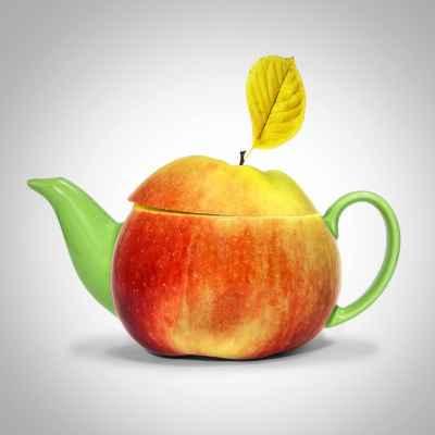Τσαγιέρα σε σχήμα μήλου