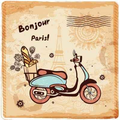 Postcard με το Παρίσι